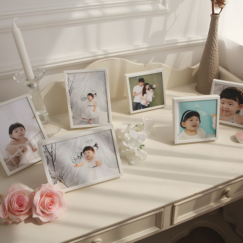 WHITE WOOD FRAME SET